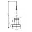 LED bezdrátová klávesnice EKB3W pro ovládání a programování ústředny ESIM 364 a minisystému EPIR